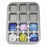 Non Stick 12 Hole Mini Square Cake Pan