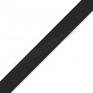 15mm Black Double Sided Satin Ribbon - 1m