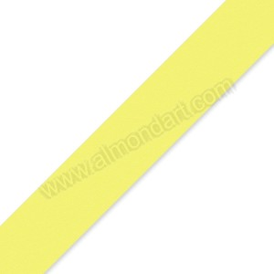 25mm Pale Yellow Double Sided Satin Ribbon - 1m