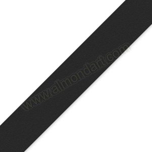 25mm Black Double Sided Satin Ribbon - 1m