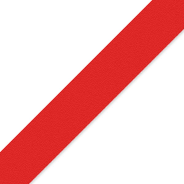 25mm Red Double Sided Satin Ribbon - 1m
