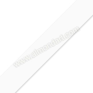 25mm White Double Sided Satin Ribbon - 1m