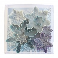 PolyResin Coated Snowflake Cookie Cutter Set