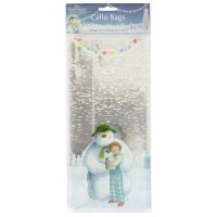 The Snowman and The Snowdog Cello Bags & Ties - 20pk