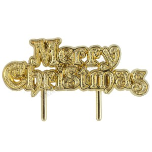 "Gold ""Merry Christmas"" Motto"