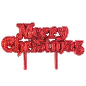 """Red """"Merry Christmas"""" Motto"""