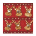 Tony The Elk Christmas Napkins - 20pk / 33cm
