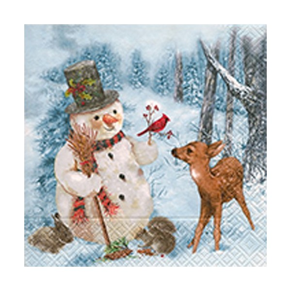 Winter Forest Christmas Napkins - 20pk / 33cm