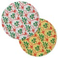 """Holly & Ribbons Design 10"""" Round Cake Board"""