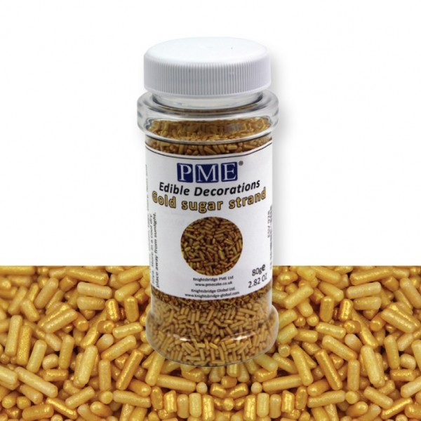 Gold Sugar Strands - 80g