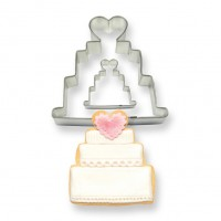 Wedding Cake Cookie & Cake Cutters - Set of 2