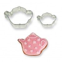 Teapot Cookie & Cake Cutters - Set of 2