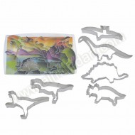 Dinosaur Cookie Cutters - Set of 6