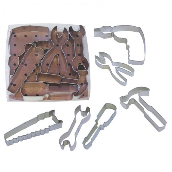 Tools Cookie Cutters - Set of 6