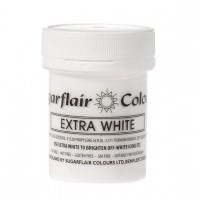 Sugarflair Extra White Paste Colour - 50g