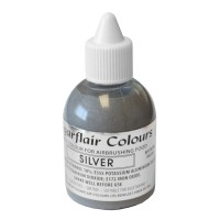 Silver Glitter Edible Air Brush Colour - 60ml