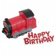 Steam Train Resin Topper & Happy Birthday Motto