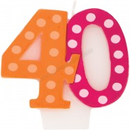 40 Bright & Bold Number Birthday Candle
