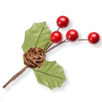 Holly, Cone & Berries Spray