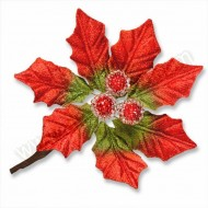 Red Poinsettia Spray
