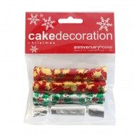 Assorted Foil Cracker Decorations - Set of 4