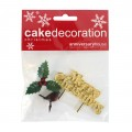 Christmas Yule Log Decorating Kit - Set of 3