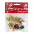 Assorted Festive Woodland Decorations & Motto - Set of 5