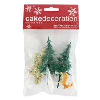 Festive Forest Decoration Kit - Set of 4