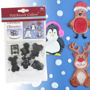 Patchwork Cutters Cute Christmas Characters