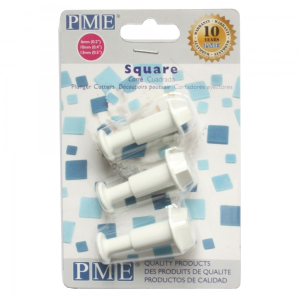 PME Square Plunger Cutters - Set of 3