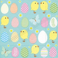 Easter Eggs & Chicks Napkins - 20pk - 3ply