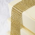 Gold Diamante Effect 8 Row Band - 1.5mtr