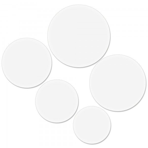 Round White Poly Coated Cards