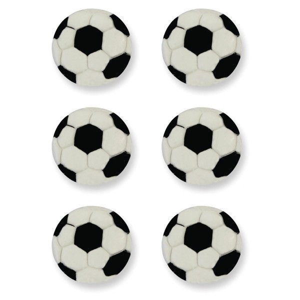 Edible Football Decorations - 6pk