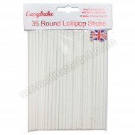 "35 Round Lollipop Sticks - 6"" Long"
