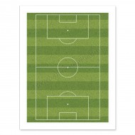 "Football Pitch Edible Icing Sheet - 10"" x 7½"""