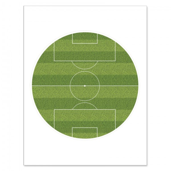 "Football Pitch Edible Icing Disc - 7½"" Round"