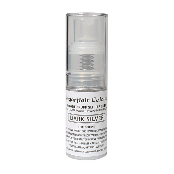 Dark Silver - Sugarflair Powder Puff Pump Spray - 10g
