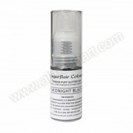 Midnight Black - Sugarflair Powder Puff Pump Spray - 10g