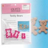 Teddy Bear Cutter Set - 3pc