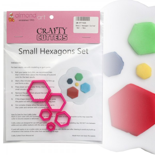 Small Hexagon Cutter Set - 5pc