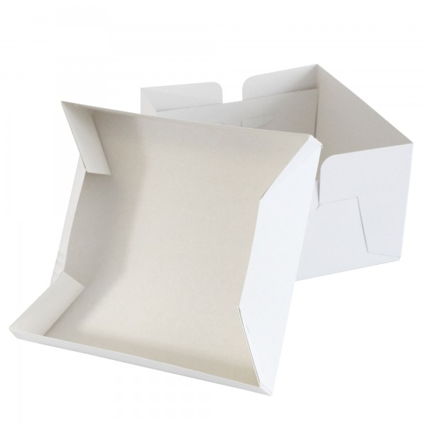 White Wedding Cake Box & Lid