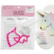Unicorn Head Cutter Set - 2pc