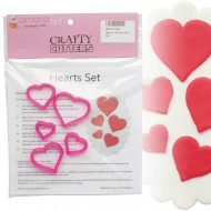 Love Hearts Cutter Set - 5pc