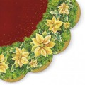 Winter Flower Red - Round Napkin - 12pk