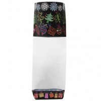 Christmas Night Confectionery / Sweet Bags & Ties - 12pk