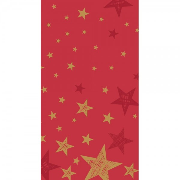 Shining Red Star Table Cover