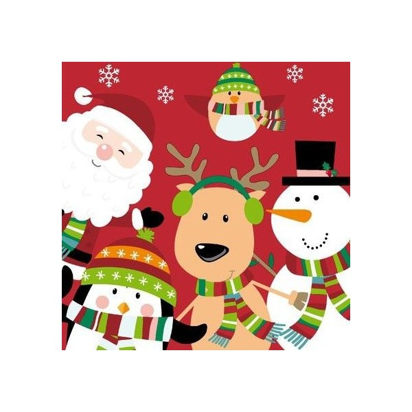 Winter Santa Fun Napkins - 20pk