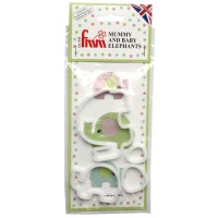 FMM Mummy & Baby Elephants Cutter Set
