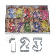 Numbers Deluxe Cookie Cutter - Set of 9